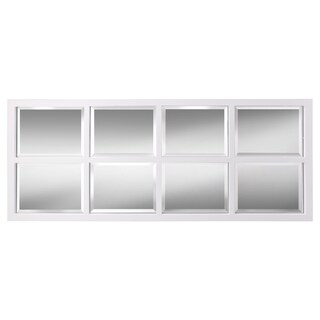 Clay Alder Home Cottonwood 8-pane Window Framed Wall Mirror (2 options available)