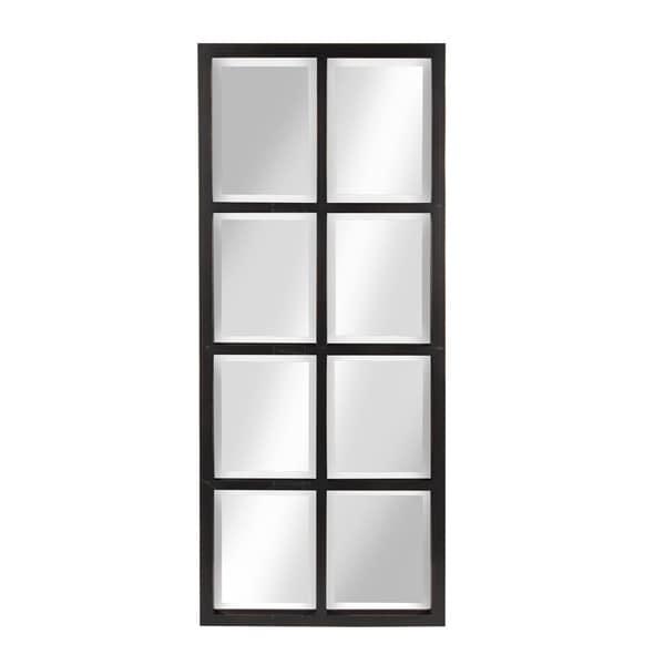 Porch & Den Cottonwood 8-pane Window Framed Wall Mirror - 17x42