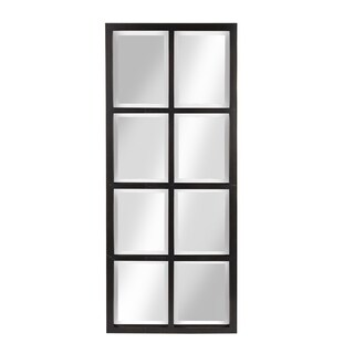 Porch & Den Cottonwood 8-pane Window Framed Wall Mirror