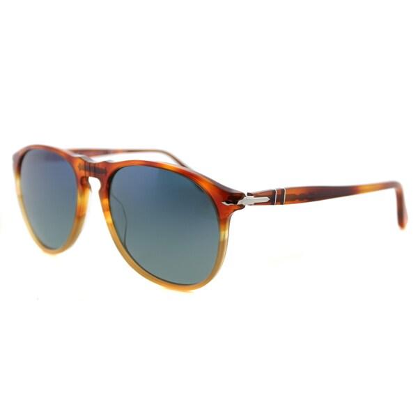 4677a18bec15c Persol Icons Resina E Sale Plastic Aviator Sunglasses Blue Gradient  Gradient Lens