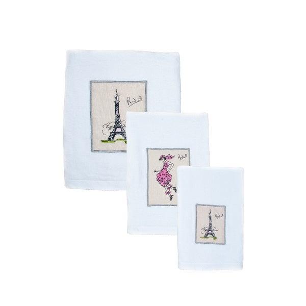 Sherry Kline Paris 6-piece Embroidered Towel Set