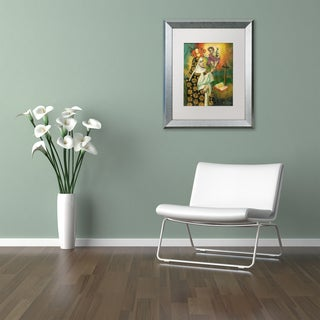 Sergio Cruze 'Mom and Child' Matted Framed Art