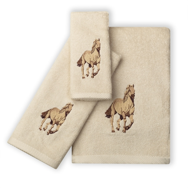Running Free Wild Horses 100-percent Cotton 3-Piece Towel Set