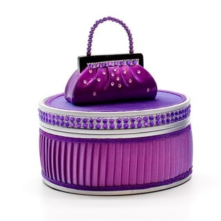 Dazzling Gems Fabric and Plastic Jewelry Box