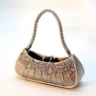 Dazzling Gems Silvertone Handbag-shaped Ring Holder