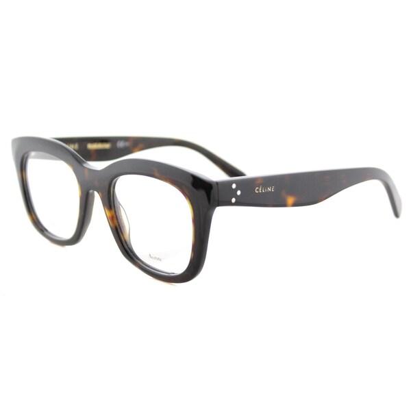 856ce747819d Celine CL 41378 086 Dark Havana Plastic 48-millimeter Square Eyeglasses
