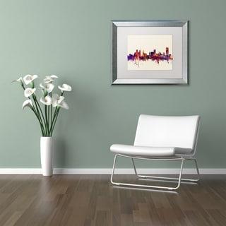 Michael Tompsett 'Buffalo NY Skyline' Matted Framed Art