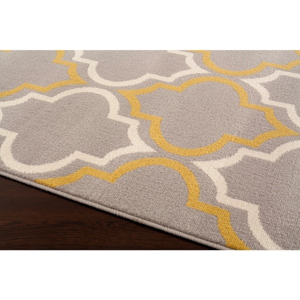 modern moroccan trellis grey yellow area rug free shipping today