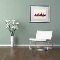 Michael Tompsett 'Aberdeen Skyline' Matted Framed Art