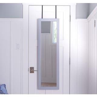 Hives & Honey Paige Dove Grey Wood/Metal/Glass/Felt Jewelry Mirror|https://ak1.ostkcdn.com/images/products/12054467/P18923384.jpg?impolicy=medium