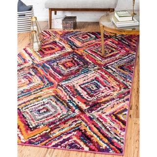Unique Loom Turkish Barcelona Beige/Off-white/Green/Blue Polypropylene Rug (10'5 x 16'4)