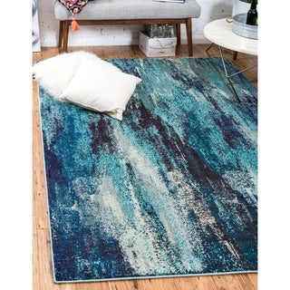 Turkish Barcelona Blue Polypropylene Rug (10'5x16'4)