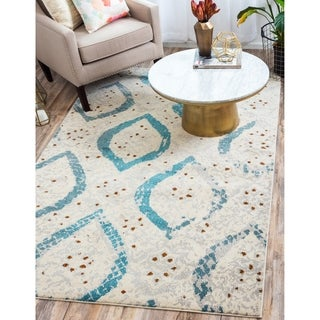 Unique Loom Turkish Barcelona Cream Polypropylene Rug (10'5x16'4)