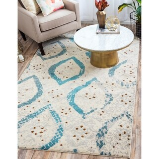 Turkish Barcelona Cream Polypropylene Rug (10'5x16'4)