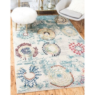 Unique Loom Turkish Barcelona Beige Polypropylene Rug (10'5x16'4)