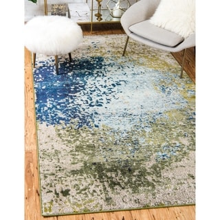 Unique Loom Turkish Barcelona Blue Polypropylene Rug (10'5x16'4)