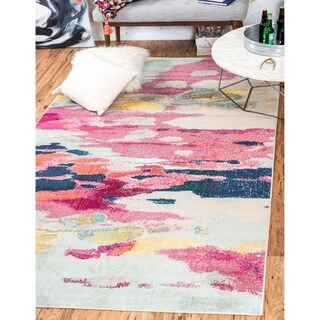 Turkish Barcelona Pink Polypropylene Rug (10'5x16'4)