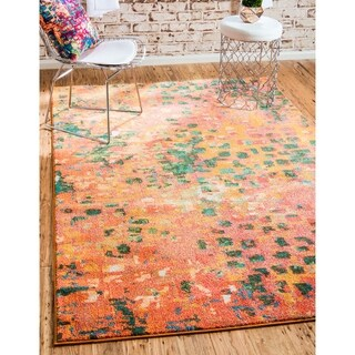 Turkish Barcelona Orange Polypropylene Rug (10'5x16'4)