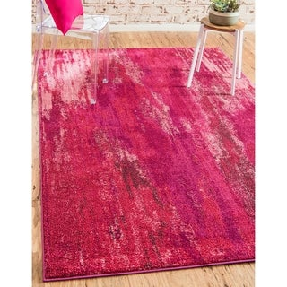 Unique Loom Turkish Barcelona Pink Polypropylene Rug (10'5x16'4)