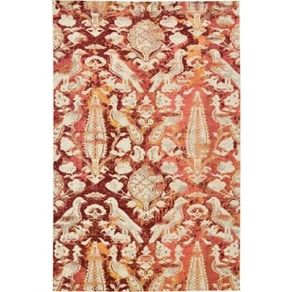 Unique Loom Turkish Barcelona Red Polypropylene Rug (10'5x16'4)