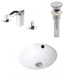 D CUPC Round Undermount Sink Set