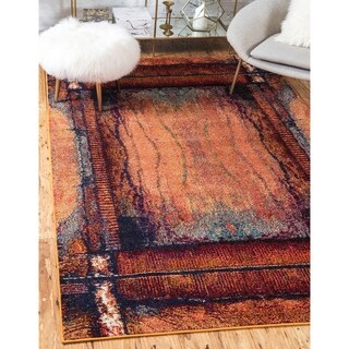 Turkish Barcelona Orange Polypropylene Rug (7'x10')