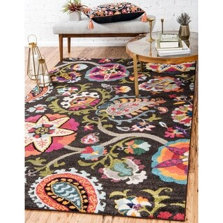 Turkish Barcelona Brown Polypropylene Rug (7'x10')