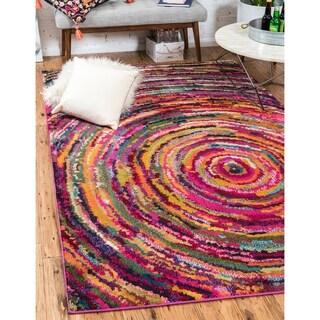Unique Loom Turkish Barcelona Multi-colored Polypropylene Rug (7'x10')