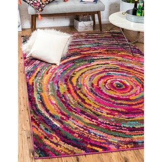 Turkish Barcelona Multi-colored Polypropylene Rug (7'x10')