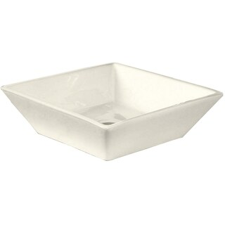 16-in. W x 16-in. D Above Counter Square Vessel In Biscuit Color For Deck Mount Faucet