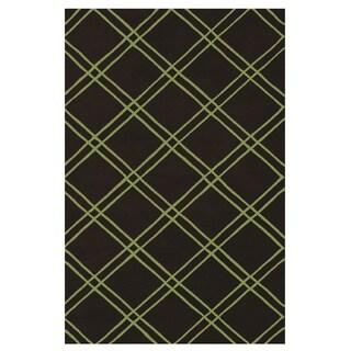 Bailey Hand-Tufted Black Acrylic Area Rug (5' x 8')