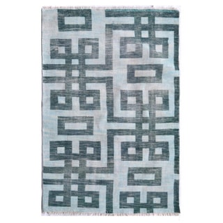 The Rug Market Dylan Off-white/Grey Polyester Hand-knotted Area Rug (5' x 8')