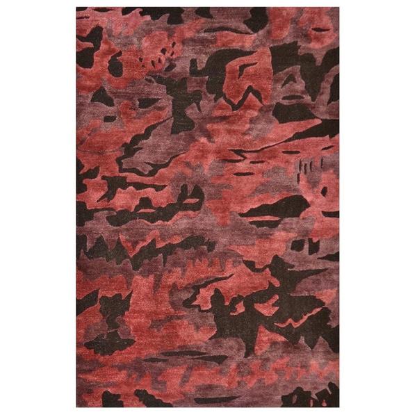 Canyo Brown Hand-tufted Wool Area Rug - 5' x 8'