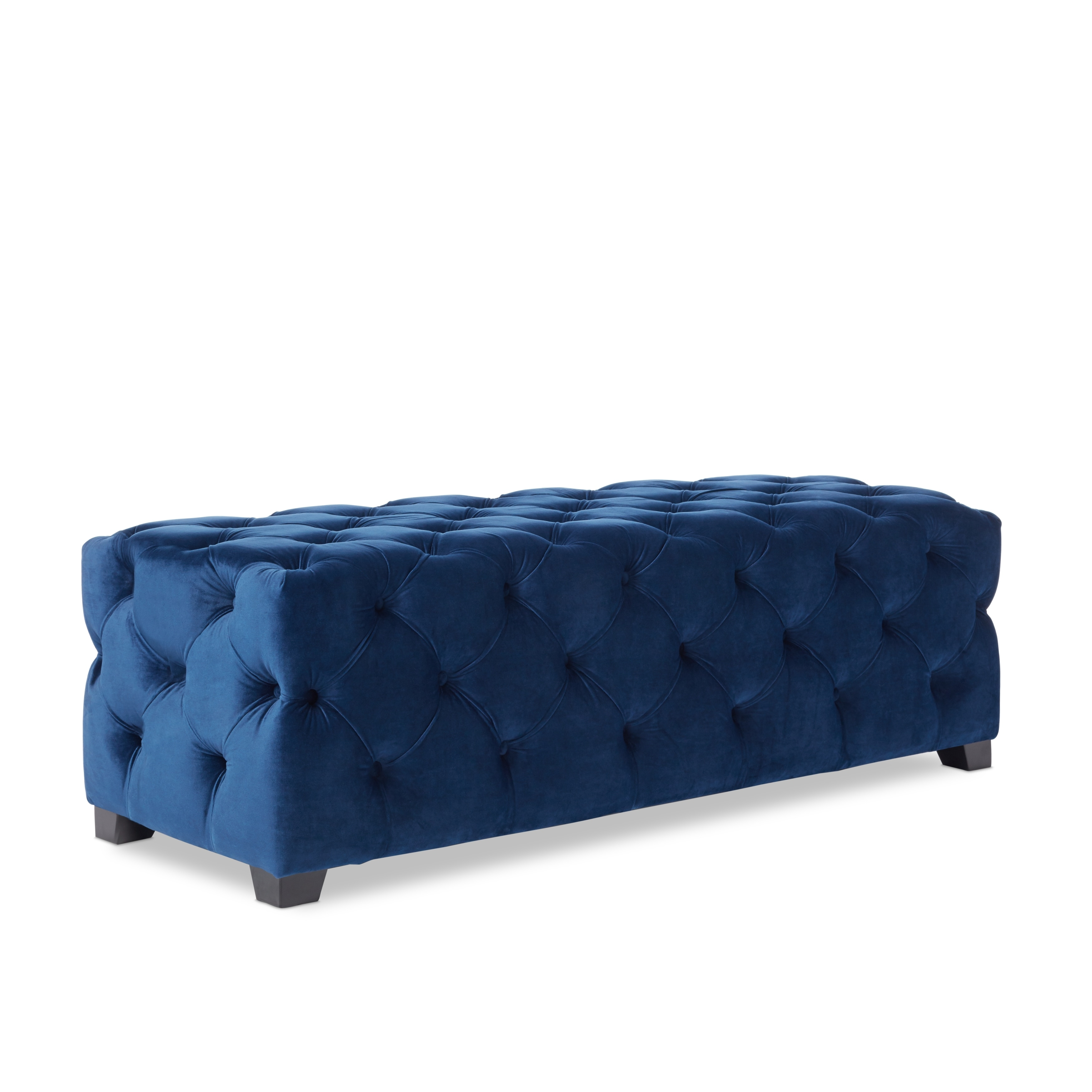 piper tufted velvet fabric rectangle ottoman bench by christopher  - picture  of  picture  of