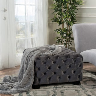 Piper Tufted Velvet Fabric Square Ottoman Bench by Christopher Knight Home|https://ak1.ostkcdn.com/images/products/12055167/P18925277.jpg?_ostk_perf_=percv&impolicy=medium