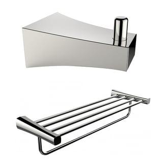 Multi-Rod Towel Rack And Robe Hook Accessory Set