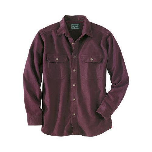 Shop Men's Woolrich Expedition Chamois Shirt Burgundy ...
