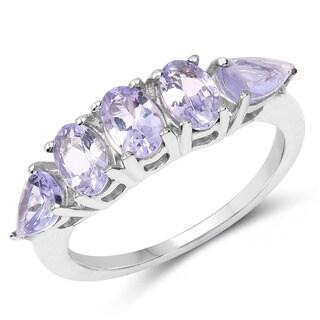 Malaika .925 Sterling Silver 2.33-carat Genuine Tanzanite Ring