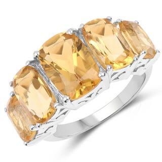 Malaika .925 Sterling Silver 11.10-carat Genuine Citrine Ring https://ak1.ostkcdn.com/images/products/12055950/P18926616.jpg?impolicy=medium