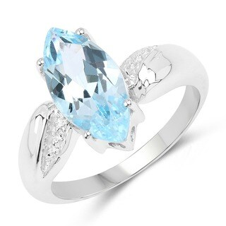 Malaika .925 Sterling Silver 2.50-carat Genuine Blue Topaz Ring