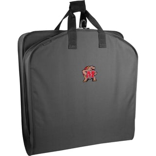 WallyBags Maryland Terrapins Black Polyester 40-inch Garment Bag