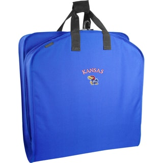 WallyBags Kansas Jayhawks Blue Polyester 40-inch Garment Bag