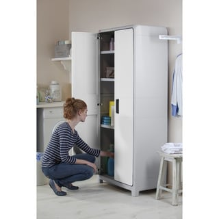 Keter Optima Wonder White and Grey Plastic Freestanding Utility Cabinet  sc 1 st  Overstock & Keter Garage Storage For Less | Overstock