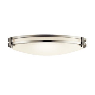 Kichler Lighting Contemporary 2-light Brushed Nickel Flush Mount