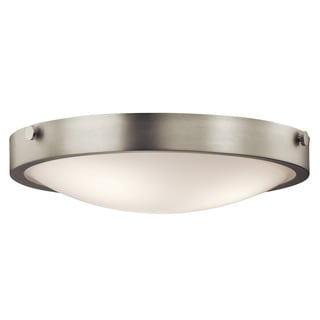 Kichler Lighting Lytham Collection 3-light Brushed Nickel Flush Mount