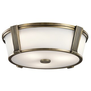 Kichler Lighting Grayson Collection 2-light Natural Brass Flush Mount