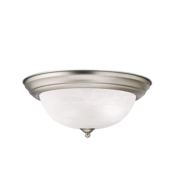 Kichler Lighting Reviews: Shop Kichler Lighting Transitional 2-light Brushed Nickel