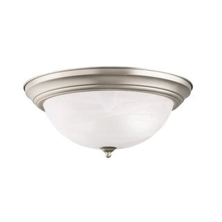 Kichler Lighting Transitional 3-light Brushed Nickel Flush Mount