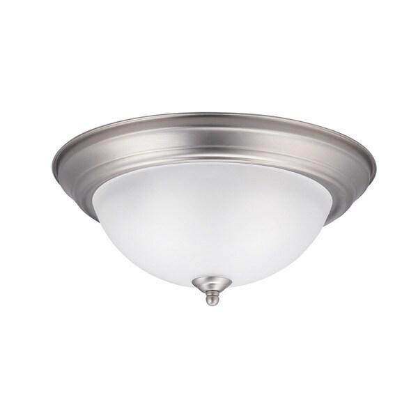 Shop Kichler Lighting Transitional 2-light Brushed Nickel