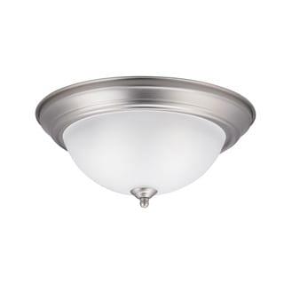Kichler Lighting Transitional 2-light Brushed Nickel Flush Mount